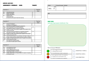 Example Assessment Sheet